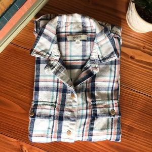 Madewell boyfriend plaid flannel button up